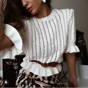Zara knitted sweater bloggers favorite